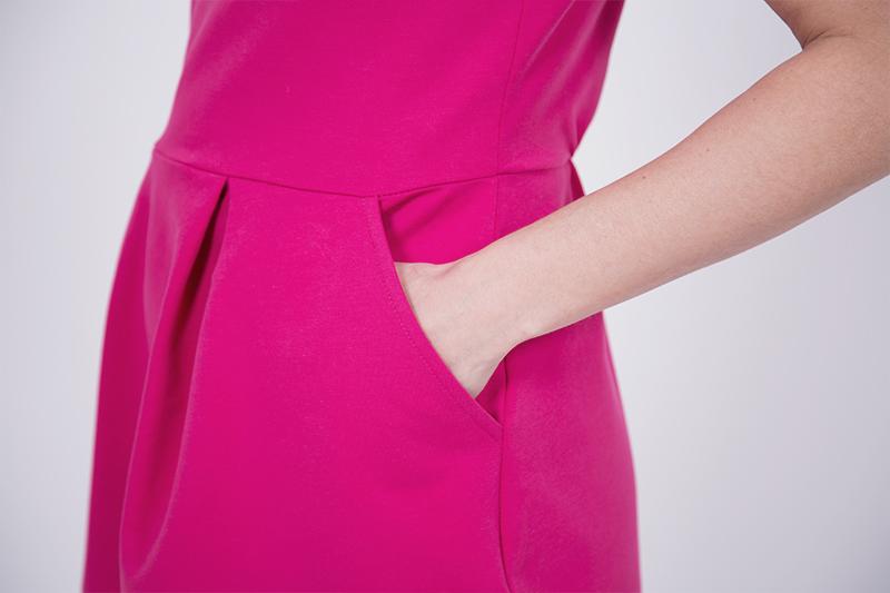 Kleid Eingrifftsaschen nähen