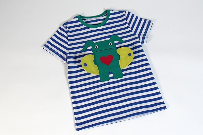 Applique monster t shirt pattydoo for Monster jersey fabric