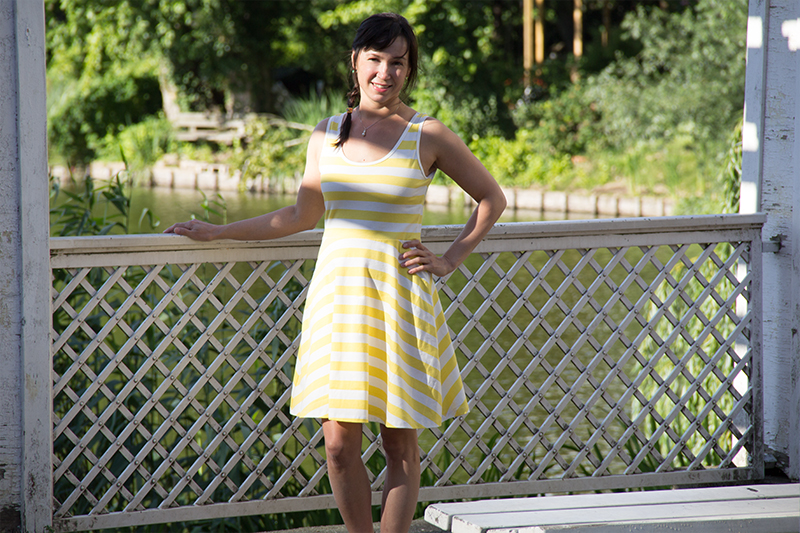 pattydoo free tutorial to make womens' tank dress with bow