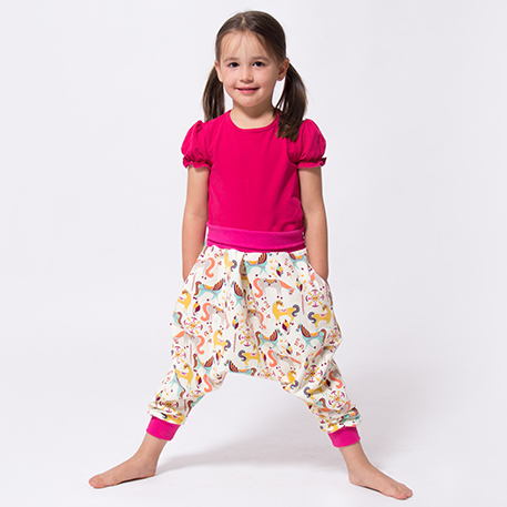 Video sewing tutorial: harem pants for children and adults | pattydoo