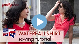 pattydoo video sewing tutorial for a cowl neck t shirt