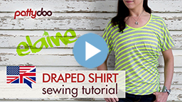 pattydoo video sewing tutorial for a draped women's t shirt