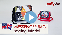 pattydoo video sewing tutorial for a messenger bag