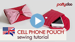 pattydoo video sewing tutorial for a phone pouch