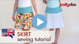 pattydoo video sewing tutorial for a skirt