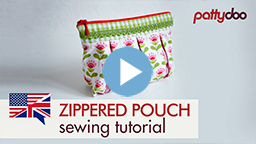 pattydoo video sewing tutorial for a zippered pouch