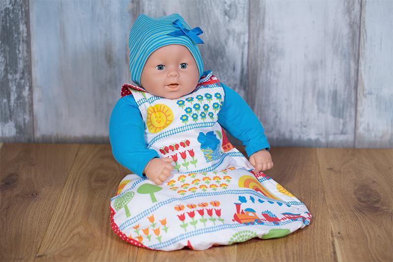 Schlafsack für Puppe nähen Anleitung
