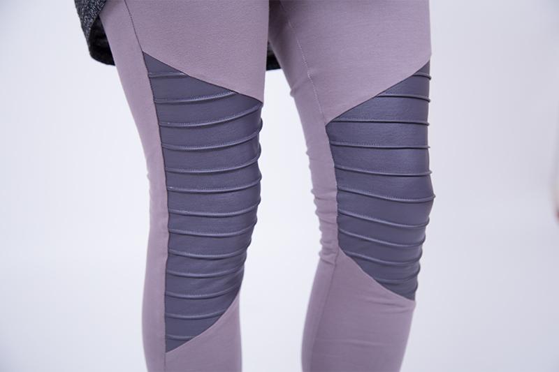 biker leggings einsatz biesen falten nähen