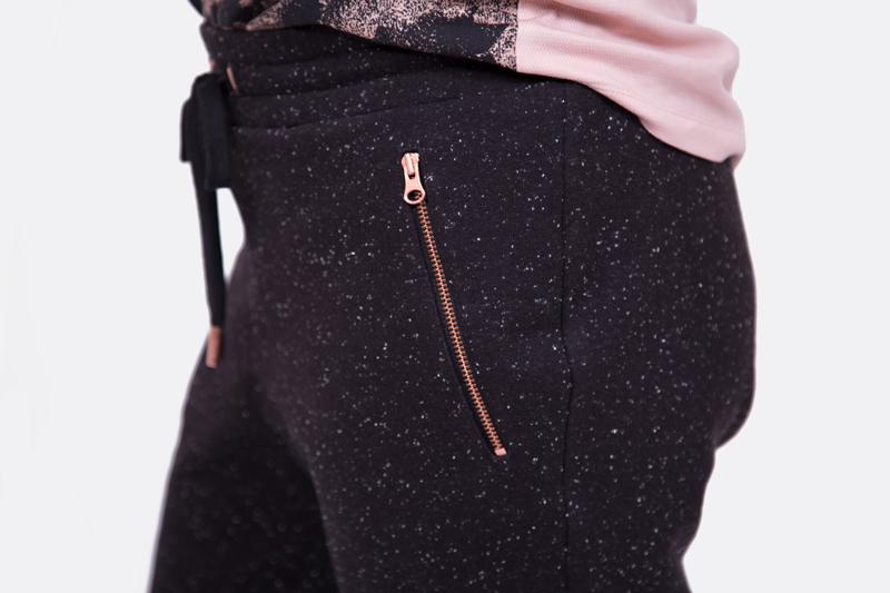 Jogginghose selber nähen Reißverschlusstasche