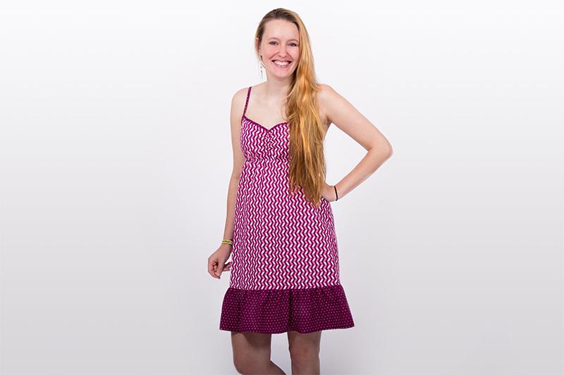 Sewing tutorial for smocking - woman's summer dress pattydoo Svenja