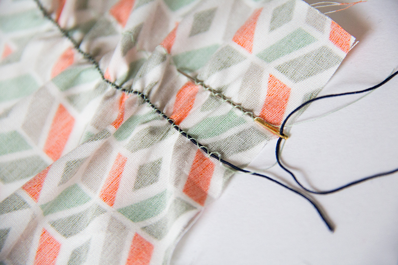 Sewing tutorial for smocking with a sewing machine