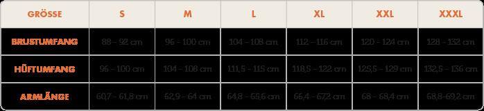 Shirt Max Tabelle Körpermaße