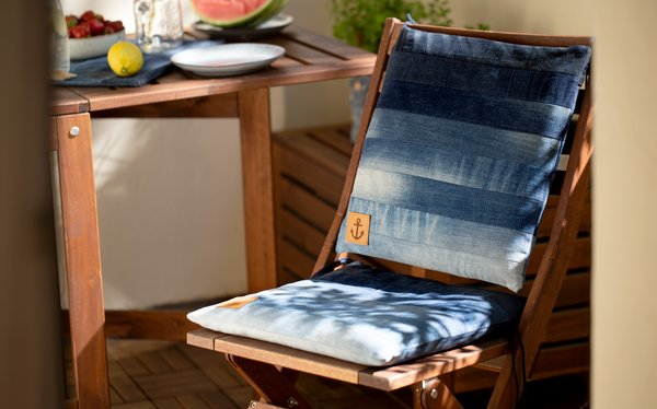 Jeans Upcycling Sitzkissen