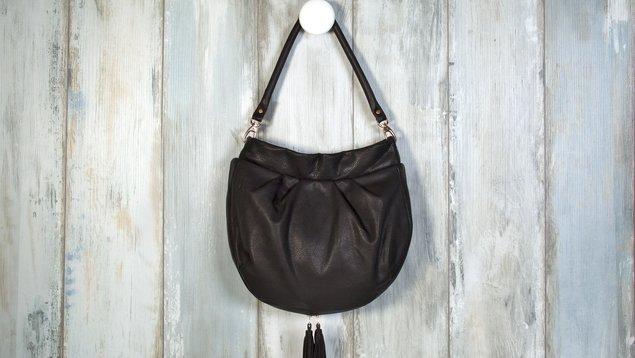 81c3e6ec440e3 Hobo-Bag aus Leder nähen mit Reißverschluss
