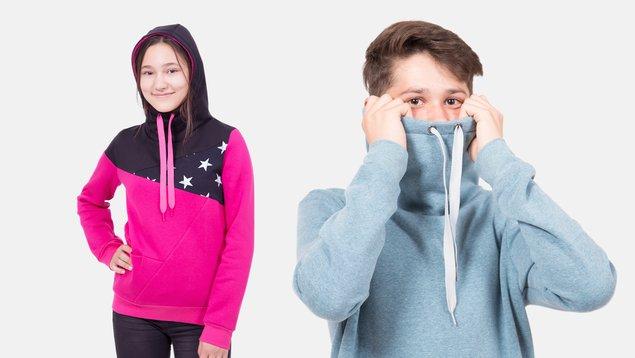 Kapuzenpullover für Teens nähen | Pattydoo