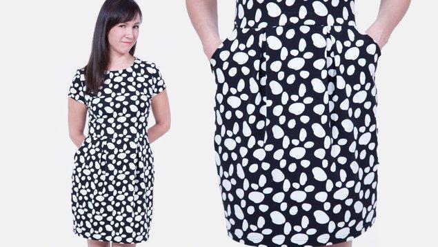 Jerseykleid mit Tulpenrock nähen | Pattydoo