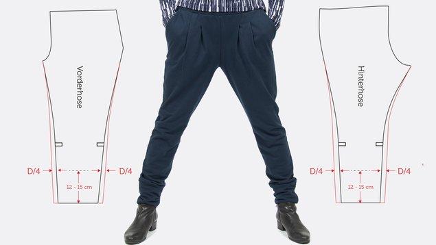 Hose aus Sweat  Länge und Weite anpassen   pattydoo 05c7c57dd9