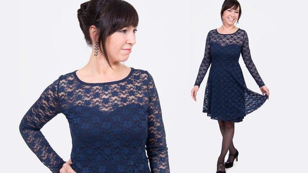 Kleid mit spitze nähen