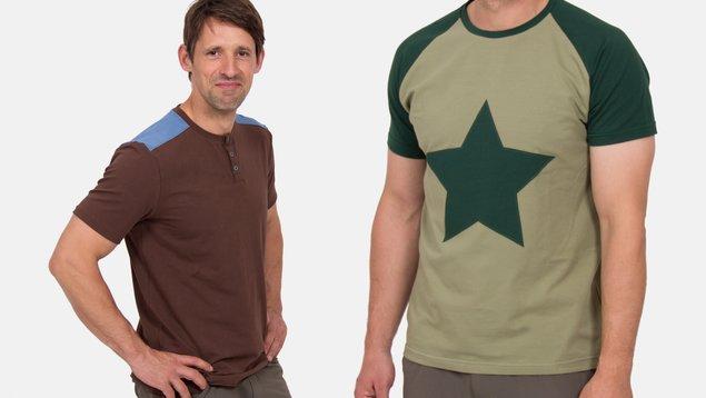 bf47be6798335c Schnittmuster Männer-Shirt mit Raglanärmeln oder eingesetzten Ärmeln