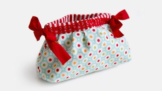Tasche mit Federverschluß nähen | Pattydoo