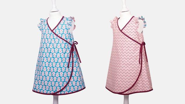 Süßes Wickelkleid für kleine Damen | Pattydoo