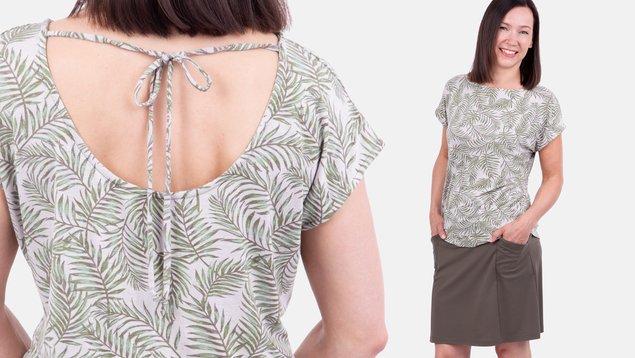 Shirt mit Rückenausschnitt nähen | Pattydoo