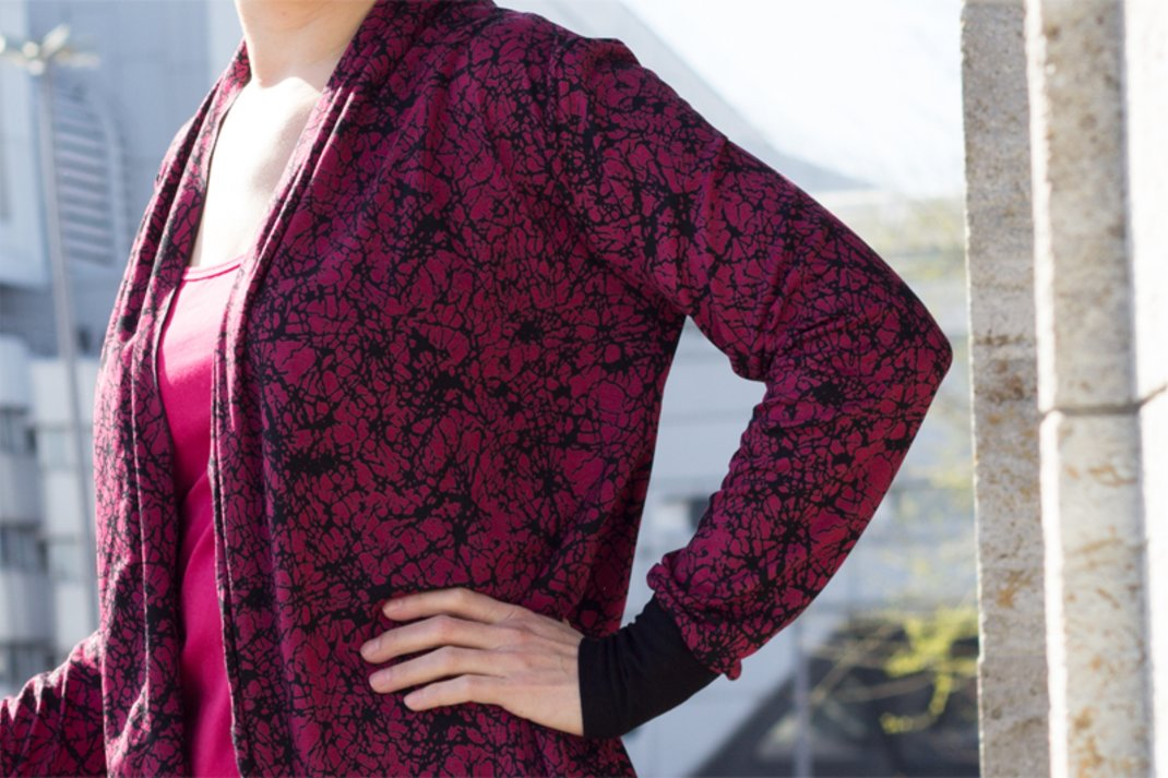 sewing pattern jersey cardigan
