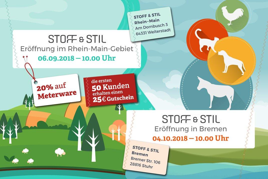 Stoff Stil Shoperöffnungen Rhein Main Und Bremen