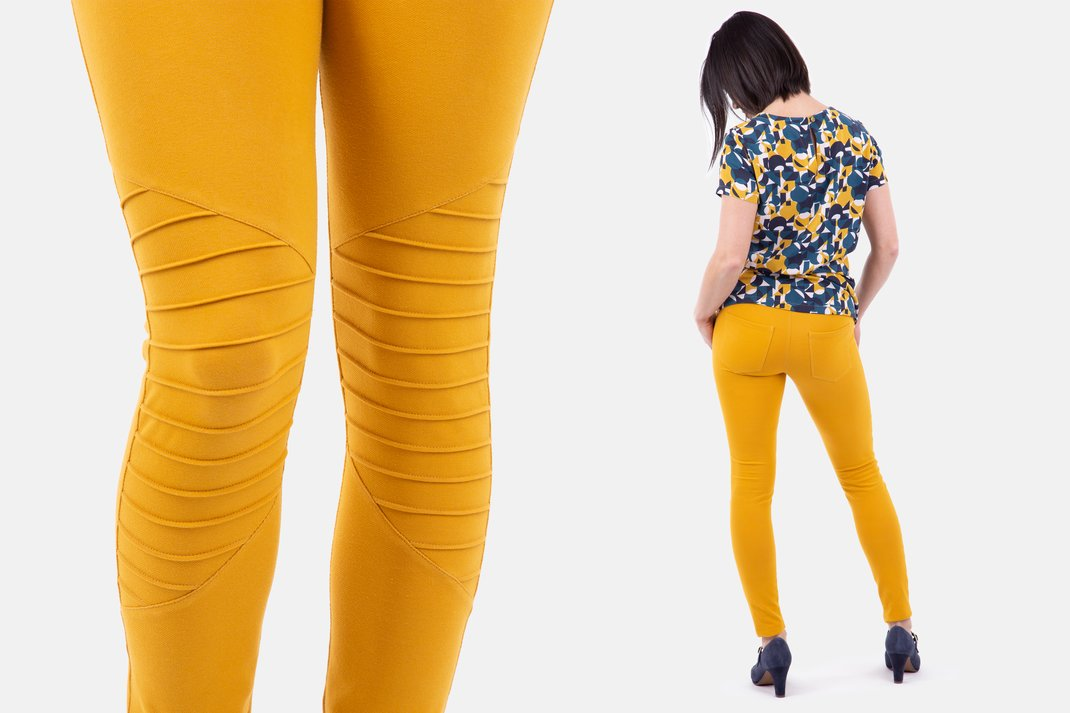 Leggings Schnittmuster Biker-Stil Stretch-Jeans