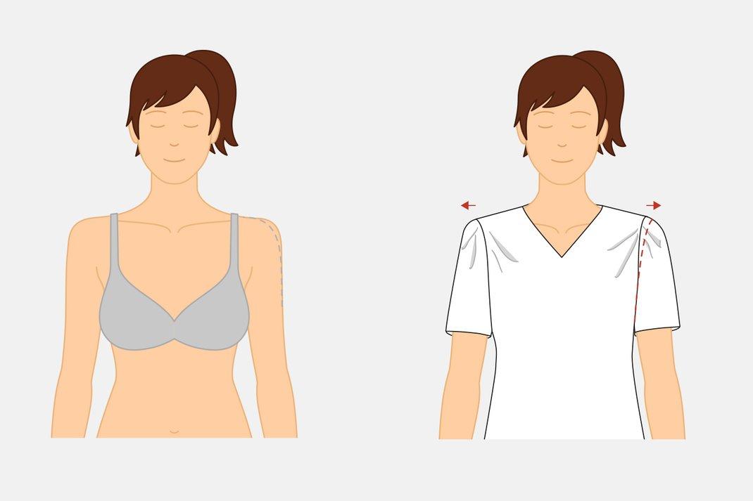 Anleitung breite Schultern Schnittmuster anpassen