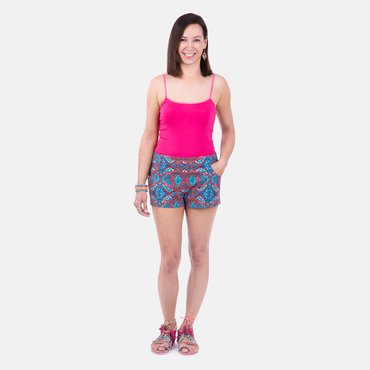 Sommer Outfit selber nähen Shorts mit Top Anleitung
