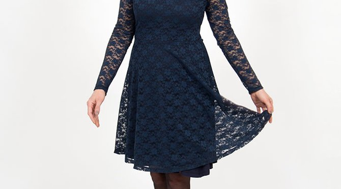 lace jersey dress sewing tutorial