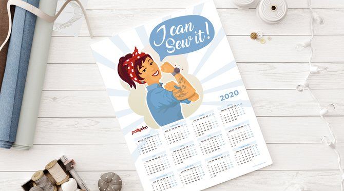 Kalender 2020 Gratis Download DIY nähen