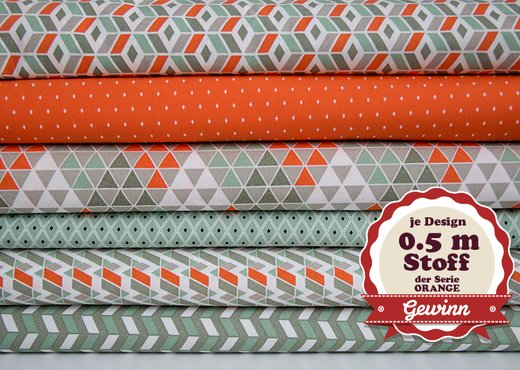 pattydoo Stoffe Geometric Fever ORANGE
