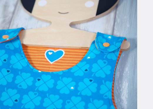 Schnittmuster Baby Schlafsack Applikation Druckknopf Anleitung