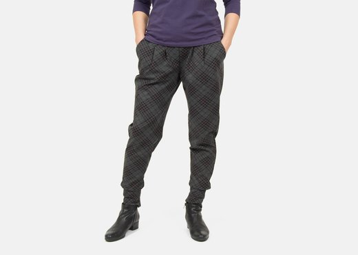 Schnittmuster Sweatpants Business Outfit Karomuster
