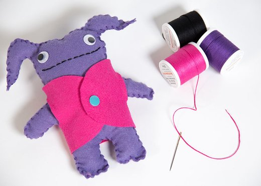 diy felt monster sewing tutorial free