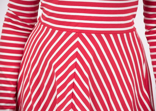 free sewing tutorial striped jersey dress