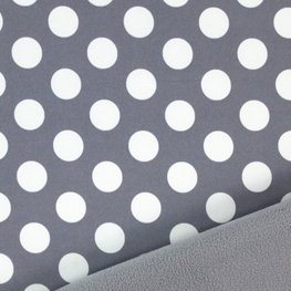 Softshell Big Dots grau