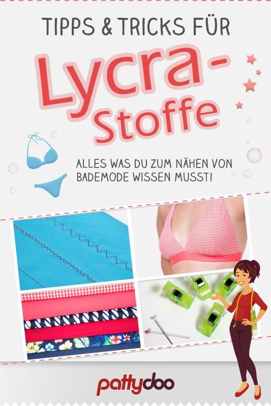 Tipps zum Nähen von Bademode und Lycra-Stoffen | Pattydoo