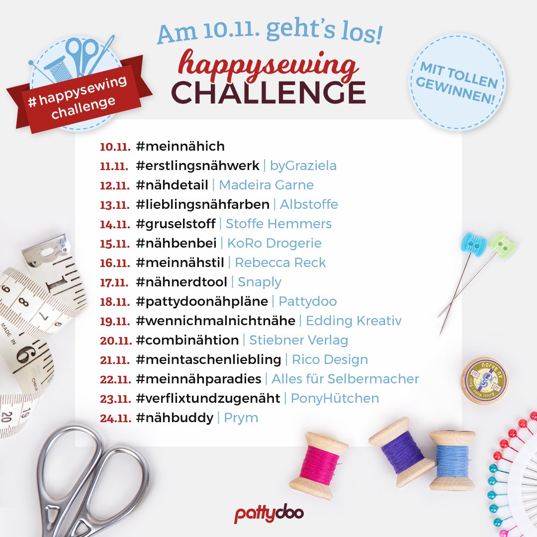 pattydoo Happy Sewing Challenge 2018