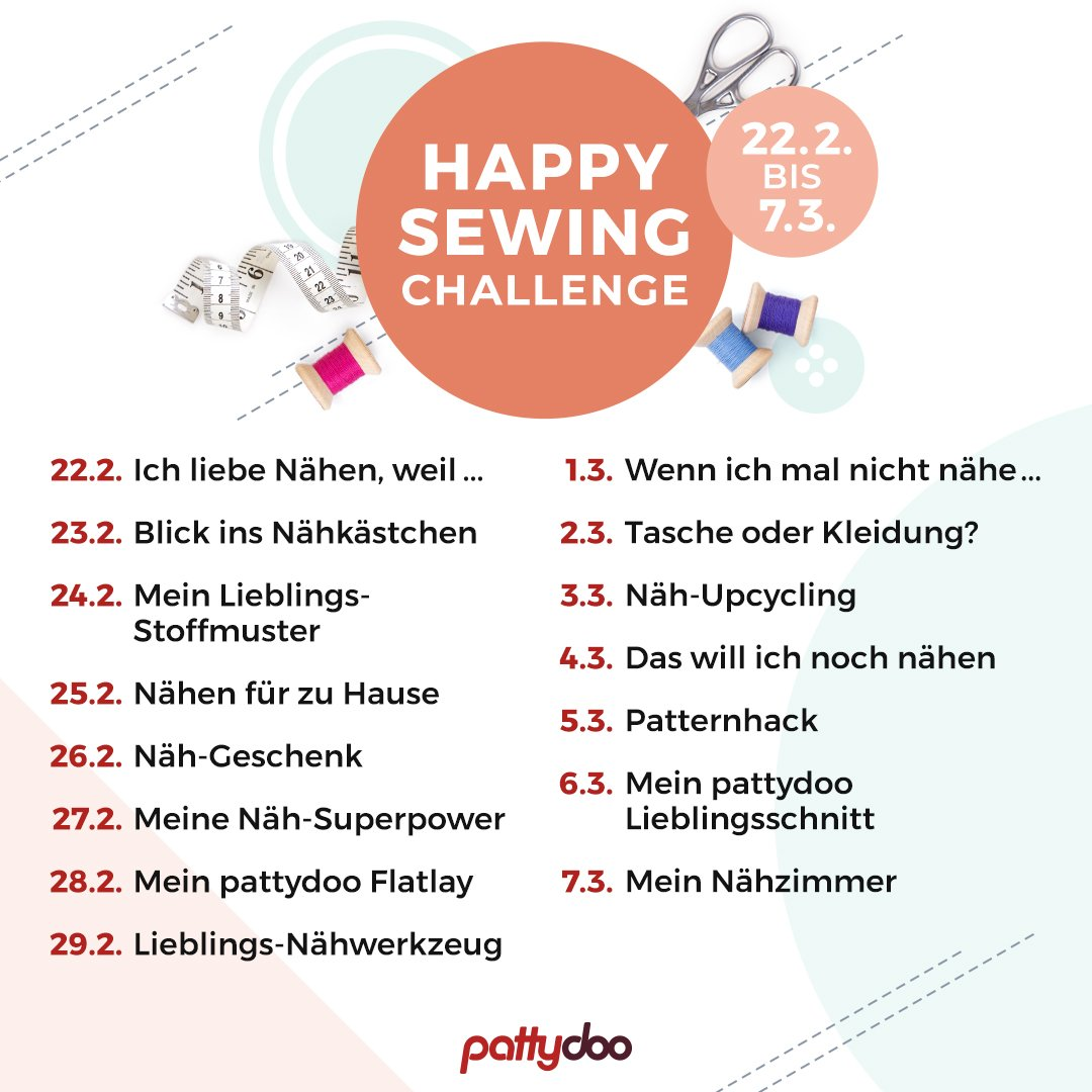 pattydoo Happy Sewing Instagram Challenge 2020 Themen