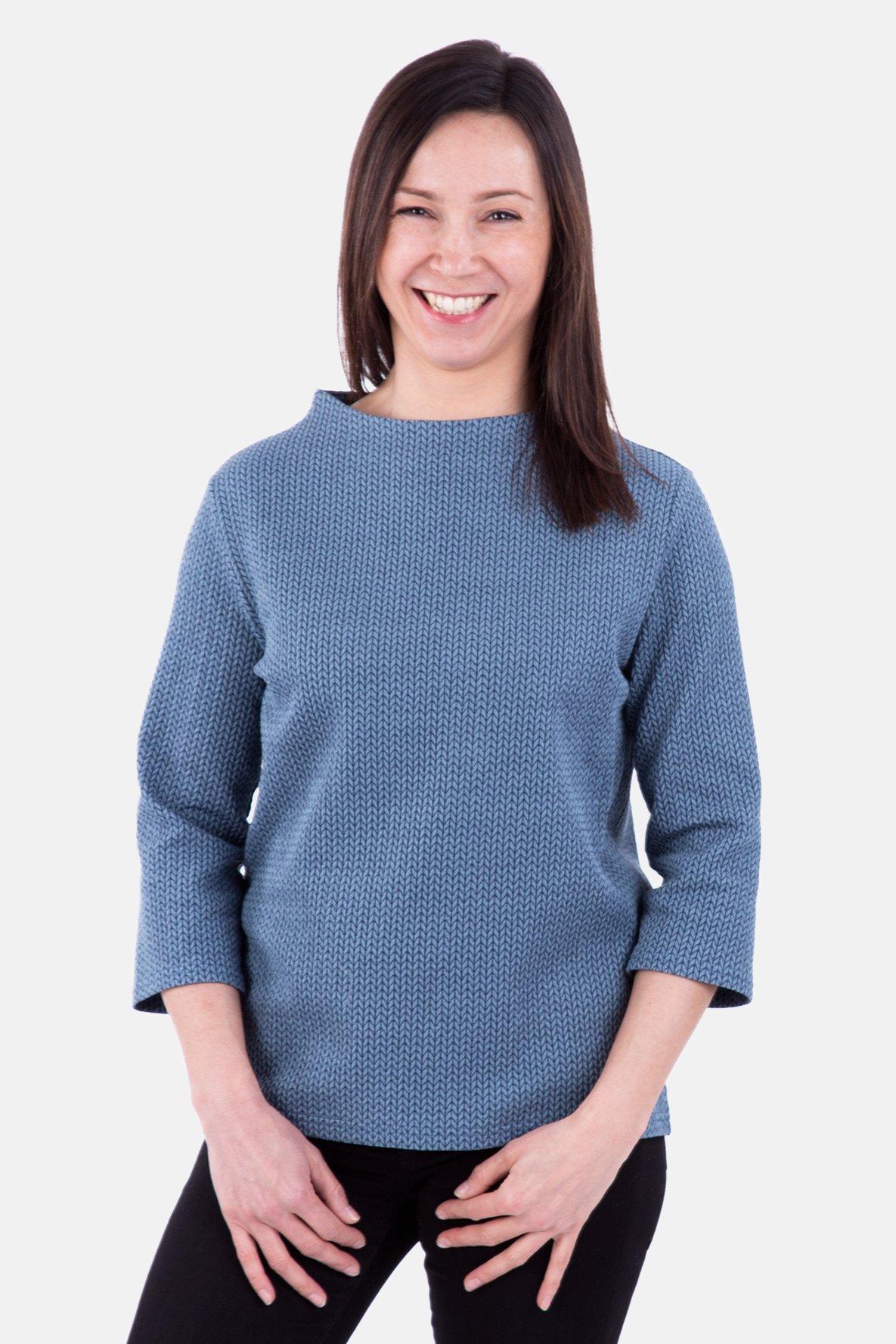 Schnittmuster Shirt Stella mit Turtleneck Stehkragen