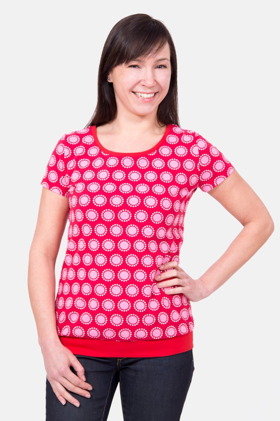 4183ce6198d830 Schnittmuster Shirt runder Ausschnitt Bündchen nähen