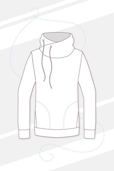 kostenloses Schnittmuster für einen Hoodie. | Schnittmuster