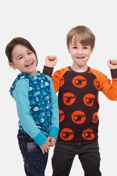 sewing pattern children raglan shirt sweater boys girls