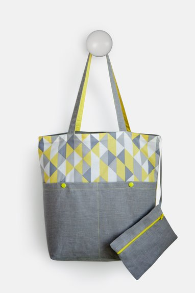 sewing pattern freebie shopper bags division stitching