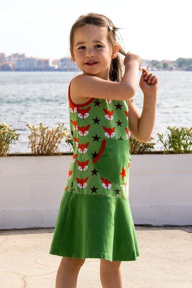 sewing pattern kids jersey dress kangaroo pocket sew