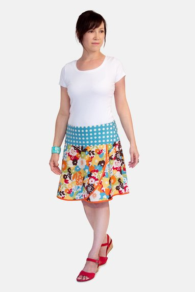 sewing pattern summer skirt feminine flowers