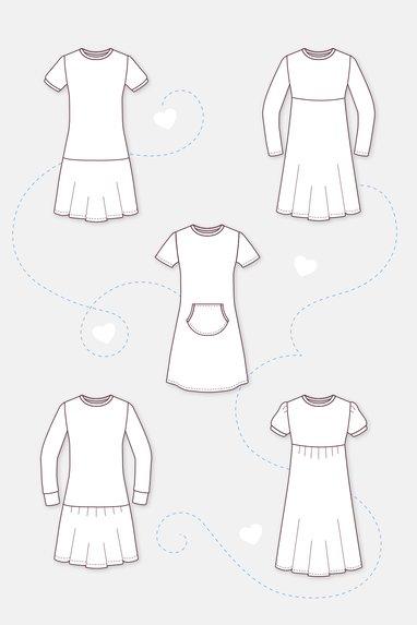 Kleidchen gratis schnittmuster Kleid nähen